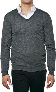 Men's V-Neck Merino Wool Jumper