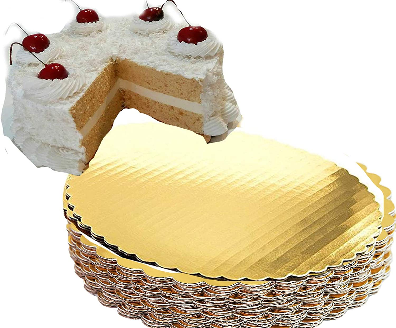 Gold Cake Circles 8 inch Circle Max 61% OFF Board Sacramento Mall C Round Coated