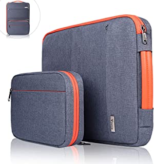 Voova 13 13.3 13.5 inch Laptop Sleeve Bag Case with Handle Compatible with MacBook Air, MacBook Pro, Asus, Acer, HP with Carrying Pouch, Waterproof Shockproof Protective Bag, Dark Gray
