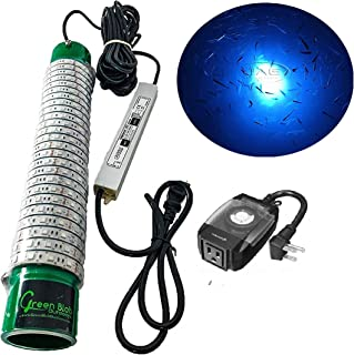 Green Blob Outdoors New Fishing Light (Green, Blue, White, or Multi), Underwater, w/ 30ft Cord, LED, Fish Attractor, Crappie, Snook, Bass, Catfish (15,000 3-Prong Plug, Blue w/Timer)
