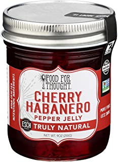 Food For Thought, Jelly Cherry Habanero Pepper, 9 Ounce