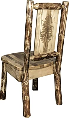 Amazon.com: Montana Woodworks Glaciar País Side Chair, Pino ...