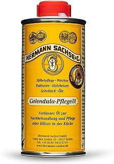 Hermann Sachse Calendula Pflegeöl 250ml | wirkungsvolles Öl für Küchenutensilien Küchenbrett Holz Küchenmöbel | Holzöl farblos für Holzflächen im Küchenbereich