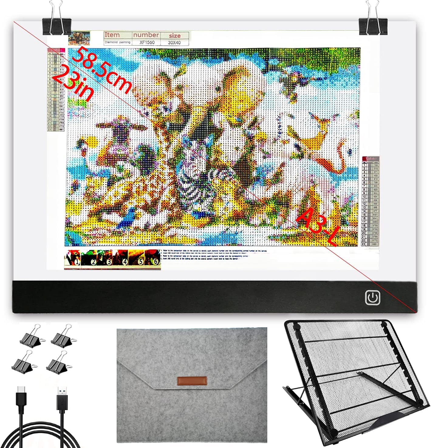 Diamond Painting Light Pad A3 Special sale item with L Bag Protective and Award-winning store Storage