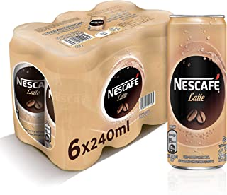 Nescafe Ready To Drink Latte Chilled Coffee Can 240ml (6 Cans)