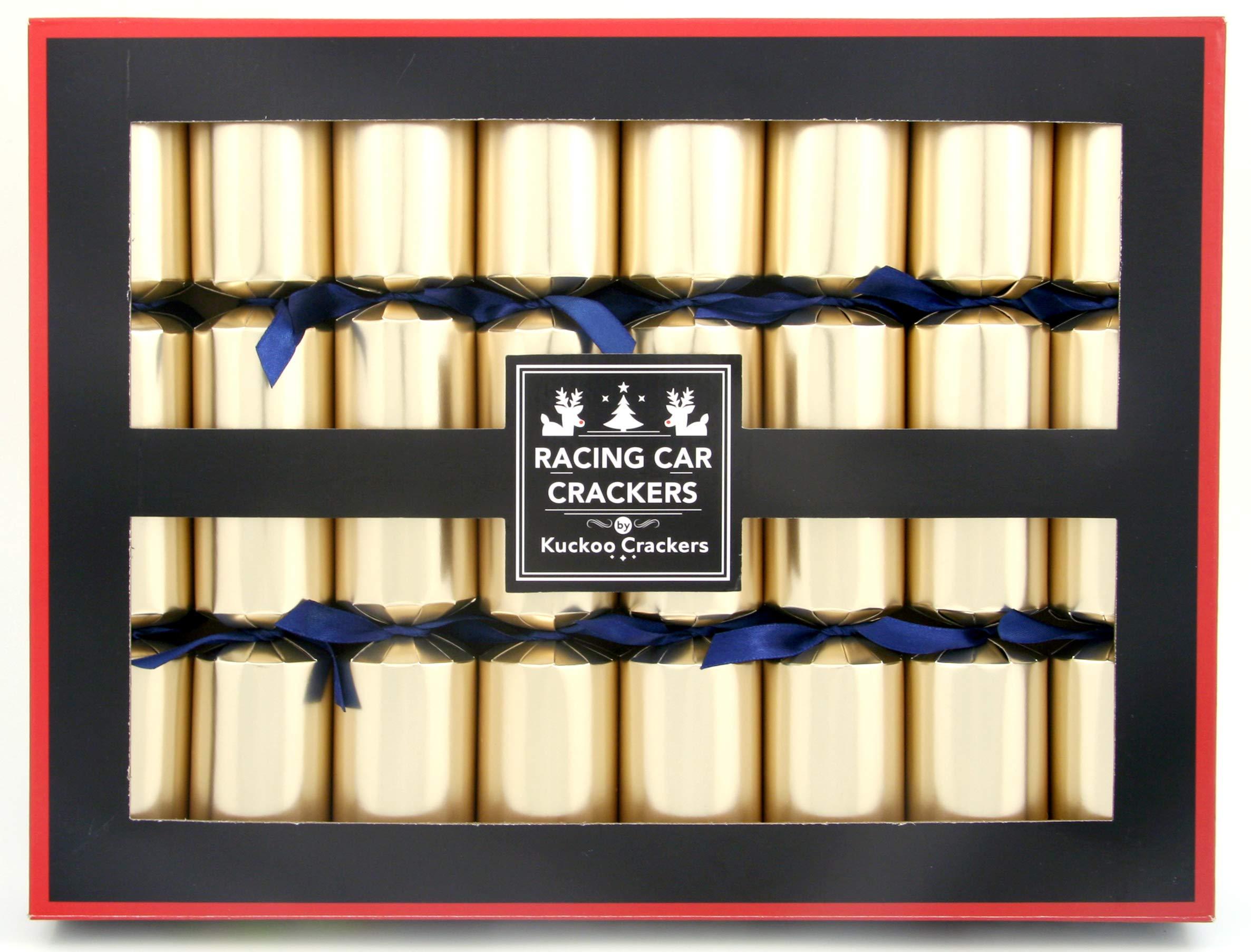 Kuckoo Crackers: 8 x 12-inch Racing Car Christmas Crackers