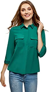 Ultra Women's Blouse in Flowing Fabric with Chest Pockets