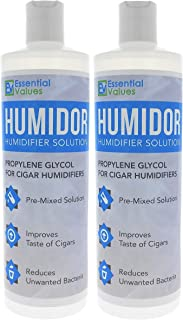 Cigar Humidor Solution (2 Pack / 16 oz Per Bottle), Best Propylene Glycol Formula for..