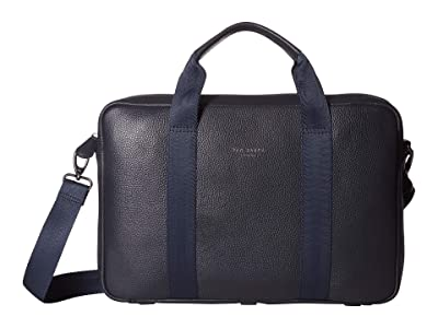 Ted Baker Importa Leather Document Bag (Navy) Briefcase Bags
