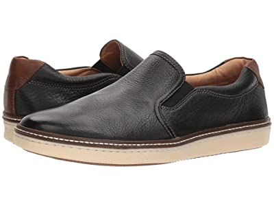 Johnston & Murphy McGuffey Casual Slip-on Sneaker (Black Full Grain 2) Men