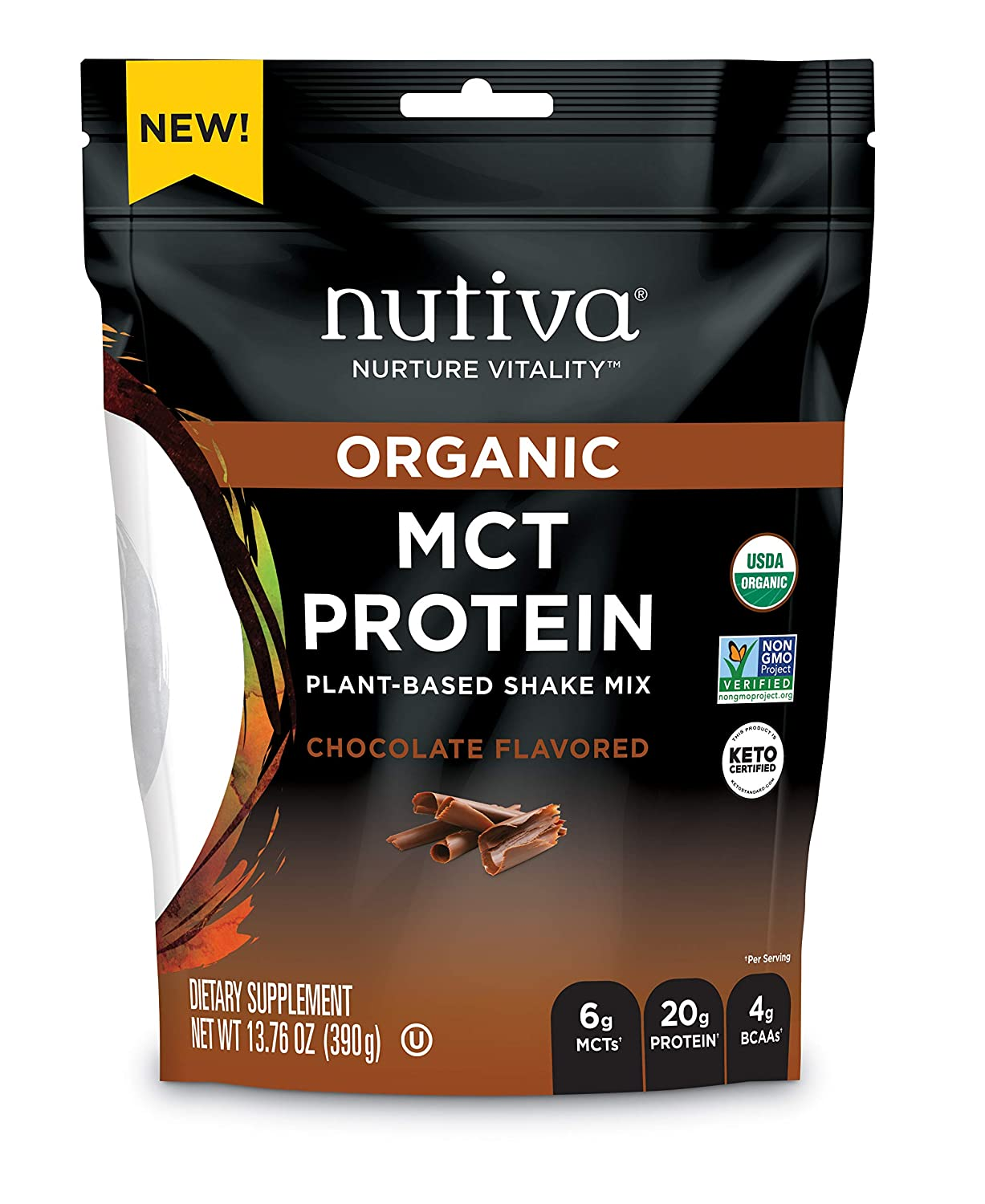 Nutiva Organic MCT Protein Plant-Based Cheap mail order sales Shake Challenge the lowest price of Japan ☆ Mix Chocolate 137