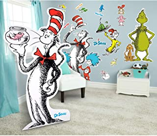 BirthdayExpress Dr Seuss Room Decorations Giant Wall Decals and Standup Kit