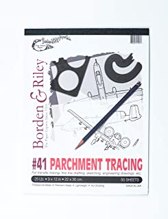 9 x 12 Inches 1 Pad Each 090P091250 55 lb Borden /& Riley #90 Sheer Trace//Medium Weight Vellum Pad 50 Sheets