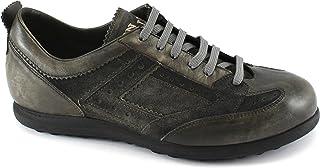 Lion 11460 Grafite Fume Grigio Scarpe Sneakers Uomo Casual Pelle Lacci