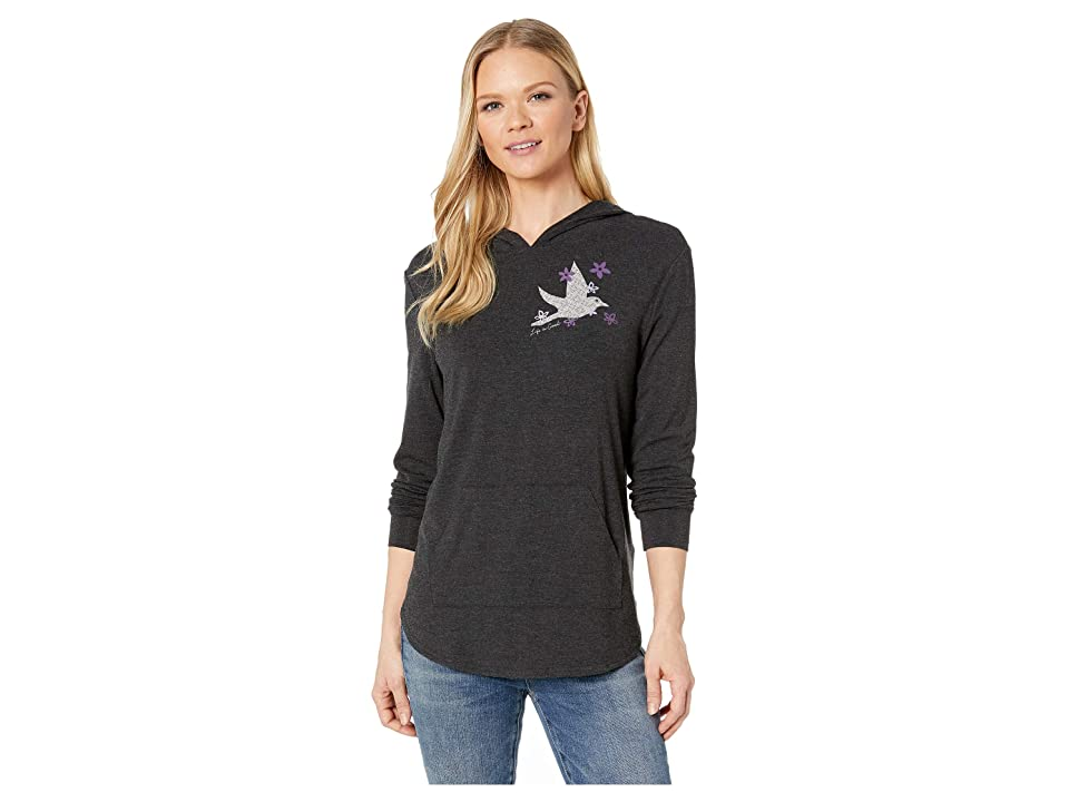 Life is Good Supreme Hooded Pullover (Night Black 2) Women