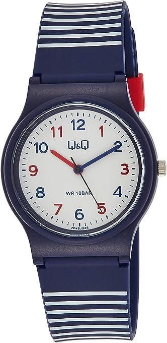 Relógio Infantil Masculino Q&Q Azul e Vermelho Prova D'Água