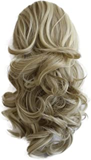 PRTTYSHOP Hair Piece Pony Tail Extension Draw String Voluminous Curly Heat-Resisting 14