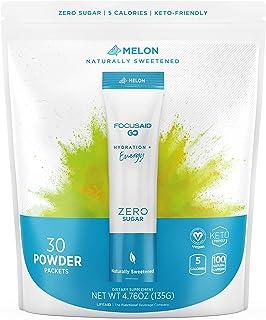 LIFEAID FOCUSAID go! Zero Sugar Energy + Hydration Packet, 100mg Natural Caffeine, W/Nootropics, GABA, Yerba Mate, Green T...