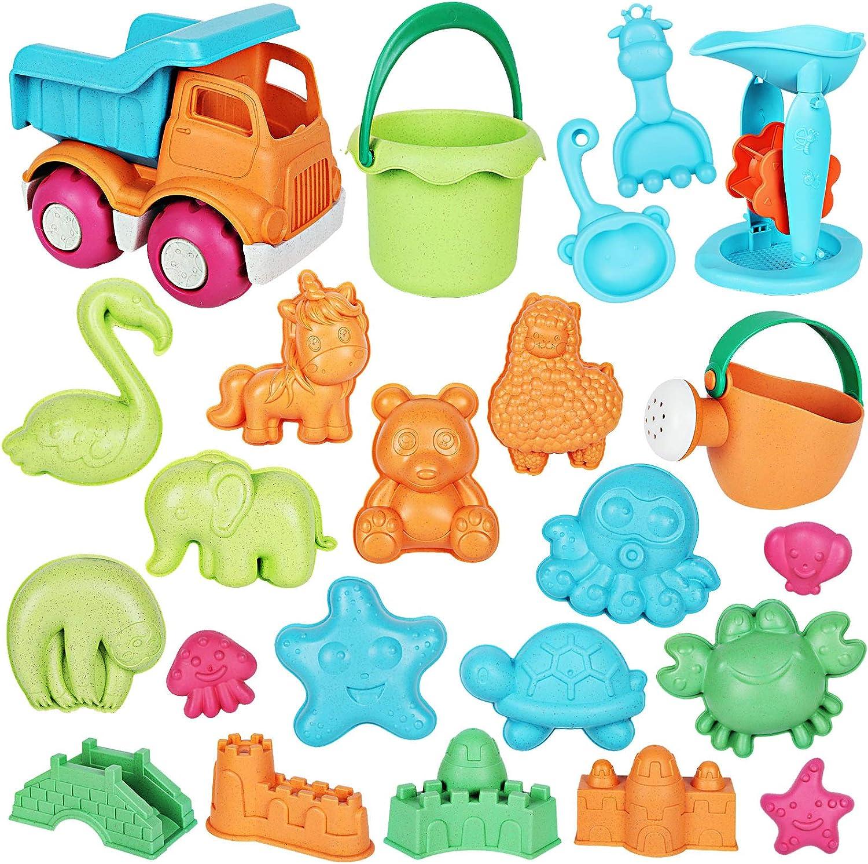 Auney 23 PCS Beach Toys Sand Dump Kids Popular shop is the lowest price Ranking TOP6 challenge Set Wheel for