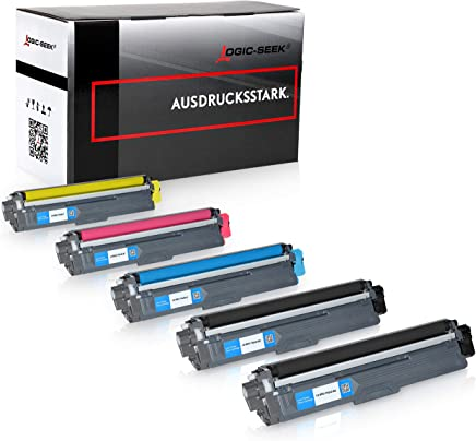 Logic-Seek 5 x Toner kompatibel für Brother TN-242 TN-246 HL-3142 3152 3172 CW CDW DCP9017CDW, Schwarz je 2.500 Seiten, Color je 2.200 Seiten