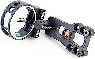 TOPOINT ARCHERY 3 Pin Bow Sight – Fiber, Brass Pin, Aluminum Machined – Right..