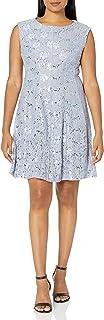 فستان حريمي من Sandra Darren مصنوع من قطعة واحدة بترتر على الكتف