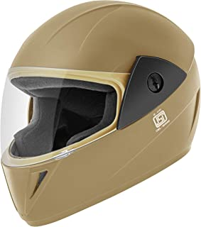 Gliders. Jazz Full Face Helmet (Khaki, Clear Visor, 580 mm)