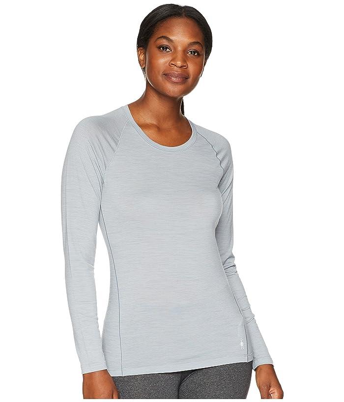 Smartwool Merino 150 Baselayer Pattern Long Sleeve (Dark Pebble Gray) Women