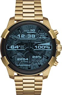 Diesel Men's Touchscreen Watch with Stainless-Steel Strap, Gold, 24 (Model: DZT2005)