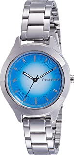 Fastrack Women's Blue Dial Color Metal Strap Watch - 6153SM03