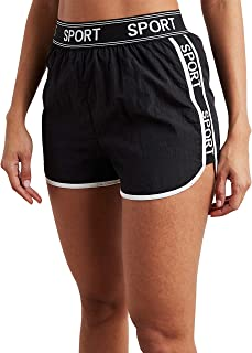 Sport Slogan Printed Runner Shorts 80389201 For Women Closet by Styli