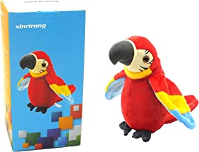 Talking Parrot No Matter What You Say Will Repeat What You Say Funny Learning Good Helper Bring You Happiness!Parrot Toys! Speaking Parrot.Multifunctional Electric Plush Parrot Speaking.Talking Bird