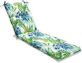 Pillow Perfect Outdoor/Indoor Soleil Chaise Lounge Cushion, Blue/Green