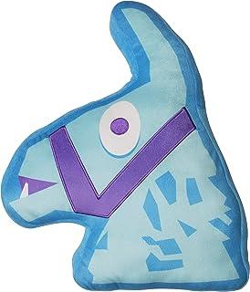 Character World Almohada oficial con forma de llama, diseño clásico azul llama