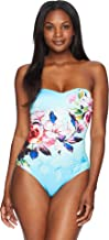 Jets by Jessika Allen Womens Flora Bandeau One-Piece