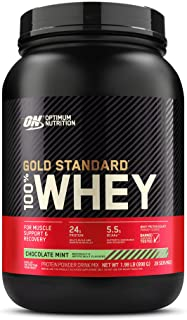 Optimum Nutrition Gold Standard 100% Whey Protein Powder, Chocolate Mint, 2 Pound (Packaging May Vary)