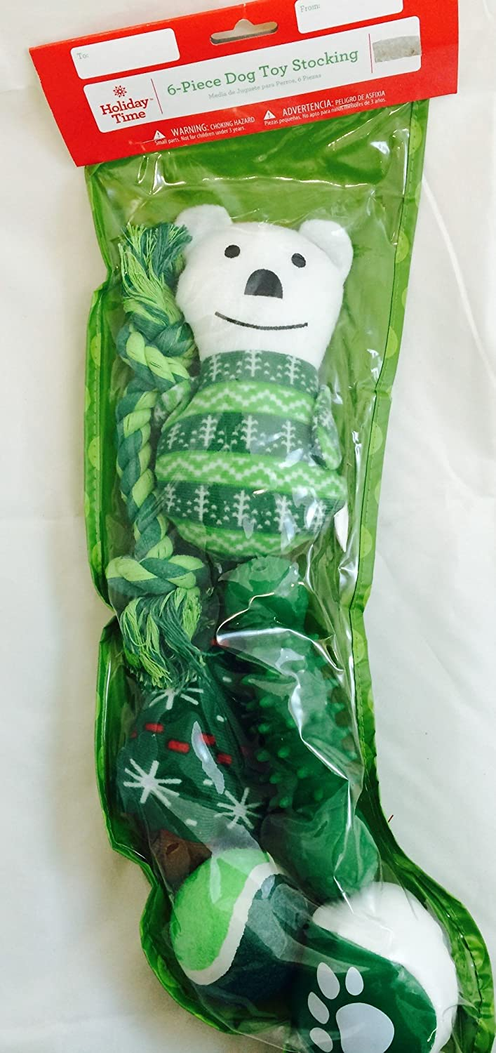 Chritsmas 6 Piece Toy Stocking Green by chritsmas time