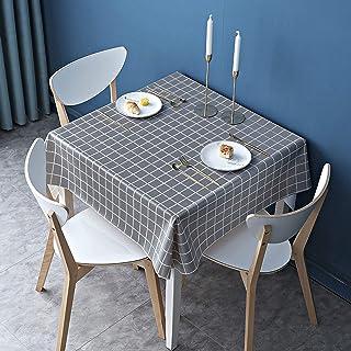 Nappe Carrée Essuyable, Nappe de Table Imperméables en Vinyle PVC pour Table Rectangulaire, Poids Lourd Grande Grille Ess...
