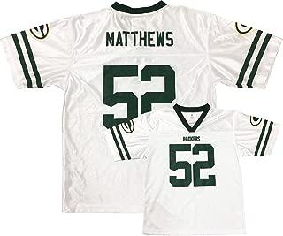 Clay Matthews Green Bay Packers White Away Player Jersey Kids