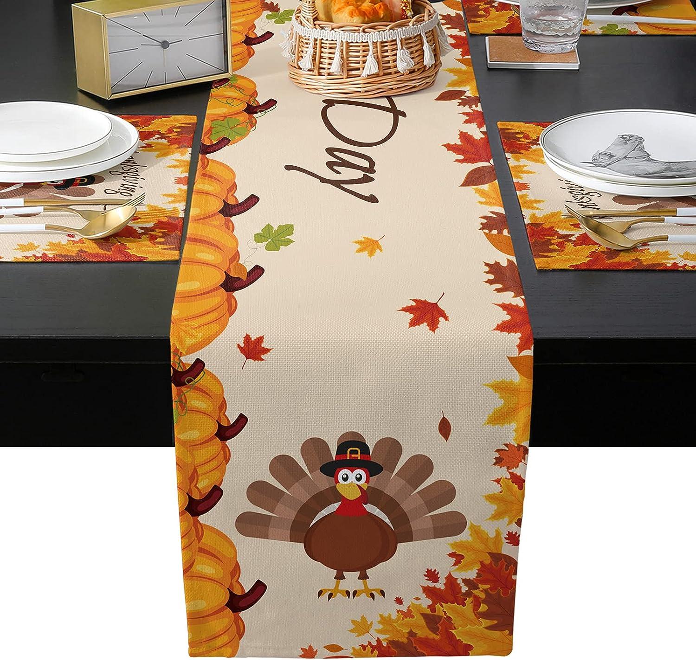Seven Roses Thanksgiving Autumn Oklahoma City Mall Turkey Pumpkin Burlap 2021 model Linen Leaf