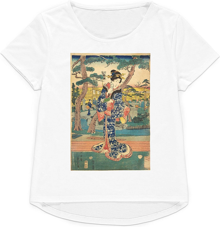 Strand Clothing Camiseta Japonesa Ukiyo-e con Estampado de Bloques de Madera para Mujer y Hombre