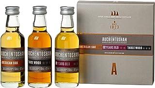 Auchentoshan Whisky Geschenkset mit American Oak,Three Wood, 12 Years Old 3 x 0,05l, 3er Pack