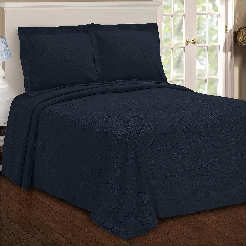 Superior Paisley Jacquard Matelass/é Cotton Bedspread with Matching Shams Aqua King