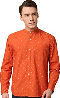 GHPC Polka Dot Printed 100% Cotton Full Sleeves Slim Fit Casual Shirt for Men
