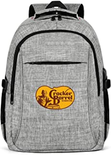 COOLGOOD Unisex Backpack Design BackpackCracker-Barrel-Logo- with USB Charging