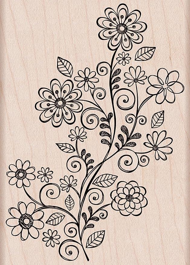 Hero Arts Woodblock Stamp, Swirl Vine