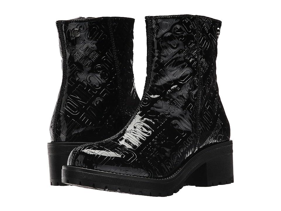 LOVE Moschino Short Rain Boots (Black) Women