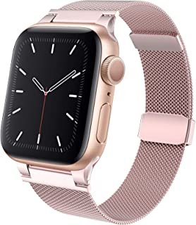 Compatible with Apple Watch Band 40mm 38mm, Stainless Steel Replacement Parts for iWatch Band for Series 6/SE/5/4/3/2/1