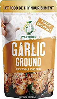 Iya Foods Garlic with Garlic skin Ground 5 ounces, Kosher Certified, No Preservatives, No Added Color, No Additives, No MSG, More flavor, more nutritious and a whole new level of garlic…