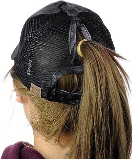 Ponycap Messy High Bun Ponytail Adjustable Mesh Trucker Baseball Cap Hat